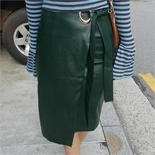 LIPHOP - Flap-Front Zip-Back Skirt