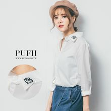 PUFII - Embroidered Collar Shirt