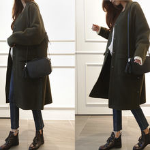 NIPONJJUYA - Stand-Collar Snap-Button Wool Blend Coat