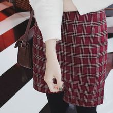 mimi&didi - Asymmetric-Hem Plaid Wool Blend Mini Skirt