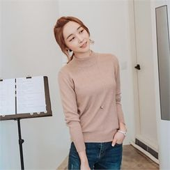 JOAMOM - Mock-Neck Knit Top