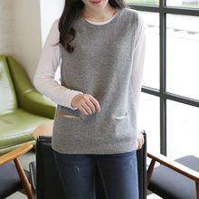 CLICK - Wool Blend Dual Pocket Knit Vest