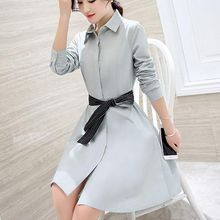 Jolly Club - Tie-Waist Shirtdress