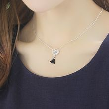 soo n soo - Tasseled Heart Pendant Necklace