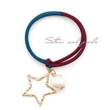 Miss21 Korea - Faux-Pearl Star Charm Hair Tie