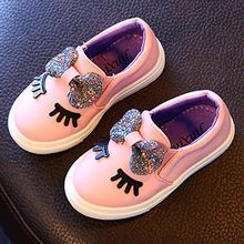 Luco - Kids Glittered Bow Accent Slip-Ons