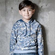 TWINSBILLY - Kids Camouflage Hooded Pullover