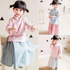 Baby Dottie - Kids Chinese Style Blouse / Kids Chinese Style Skirt