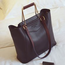 Nautilus Bags - Set : Faux Leather Tote Bag + Inset Pouch