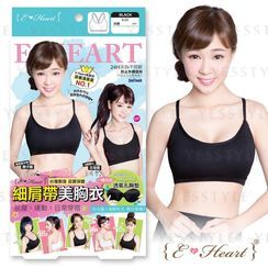 E‧Heart - Beauty Bra-Thin Strap (Black) (L)