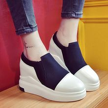Pixie Pair - Platform Hidden Wedge Slip Ons