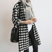 NANING9 - Gingham Long Shirt