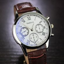 YAZOLE - Leather Strap Watch