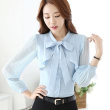 Princess Min - Set: Tie-Neck Blouse + Pants / Skirt