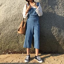 Sinbounboun - Cropped Wide Leg Dungaree