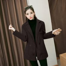 lilygirl - V-Neck Double-Breasted Knit Coat