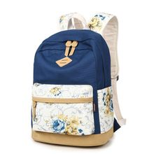VIVA - Rose Print Canvas Backpack