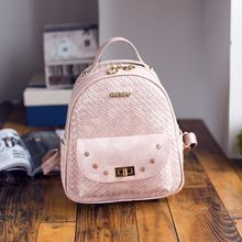 Bag Affair - Woven Faux Leather Backpack
