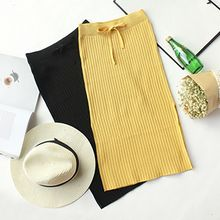Honey House - Ribbed Bow Knit Skirt