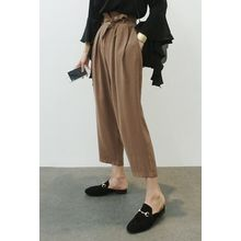 ATTYSTORY - Buckled-Waist Wide-Leg Pants