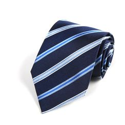 Xin Club - Striped Silk Neck Tie (8cm)