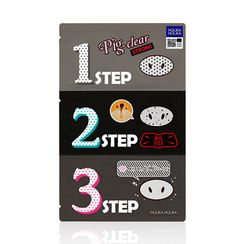 Holika Holika - Pig Clear Black Head 3-Step Kit Strong