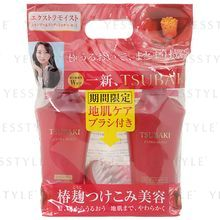 Shiseido - Tsubaki Extra Moist Set: Shampoo 500ml + Conditioner 500ml + Massage Comb