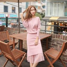 Cherryville - Set: Knit Sweater + Midi Skirt