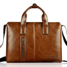 ROI - Faux-Leather Brief Case