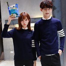 Tabula Rasa - Couple Matching Striped Knit Pullover