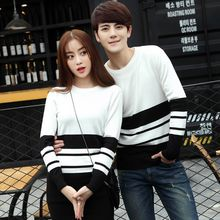 NoonSun - Couple Matching Color Block Knit Pullover