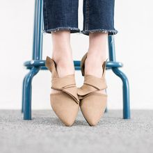 VIVIER - Cross-Detail Faux-Suede Flats