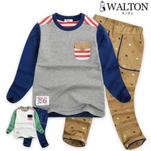 WALTON kids - Kids Set: Color-Block T-Shirt + Pants
