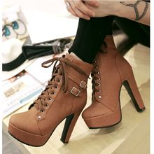 Cinnabelle - Lace Up High Heel Ankle Boots
