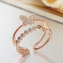 Crystal Midsummer - Butterfly Double Ring