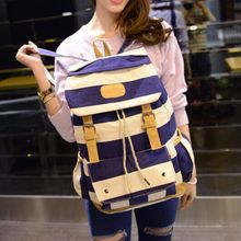 Seok - Striped Flap Backpack