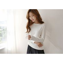 Hello sweety - Round-Neck Colored Knit Top