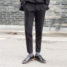 STYLEMAN - Colored Flat-Front Dress Pants