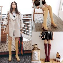 CITTA - Block Heel Over-the-Knee Boots