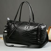 BagBuzz - Croc Embossed Faux Leather Carryall