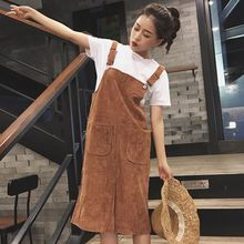 Dute - Corduroy Pinafore Dress