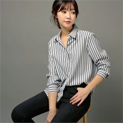 Styleberry - Plain Striped Shirt