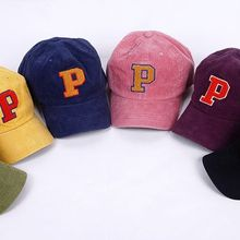 Seoul Homme - Couple Lettering Colored Corduroy Cap