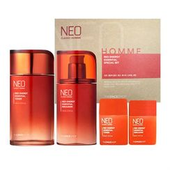 菲诗小铺 - Neo Classic Homme Red Energy Essential Set: Toner 140ml + 30ml + Emulsion 110ml + 30ml
