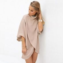 HOTCAKE - High-Neck Elbow-Sleeve Tunic