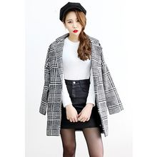 Dalkong - Glen-Plaid Check Single-Breasted Coat
