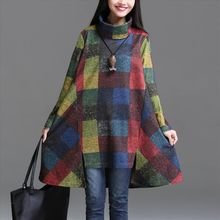 Yeeya - Long-Sleeve Color Block A-line Dress