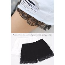REDOPIN - Drawstring-Waist Laced Shorts