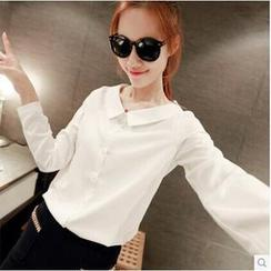 Q.C.T - Long-Sleeved Chiffon Blouse