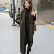 OTTI - Notch Lapel Long Woolen Coat